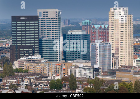 Office buildings in downtown Rotterdam. Rotterdam, The Netherlands. - Stock Photo