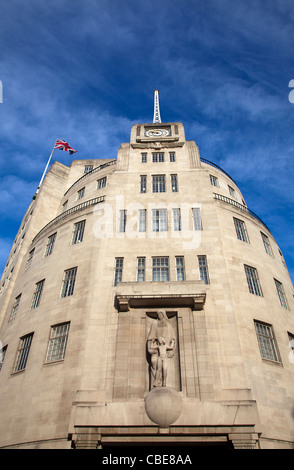 BBC Broadcasting House building on Langham Place in London - UK - Stock Photo