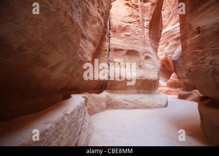 Petra stone walls - Stock Photo