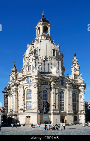 Church Frauenkirche in Dresden - Church of Our Lady. - Stock Photo