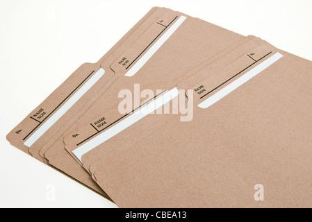 Labeled File Folders - Stock Photo