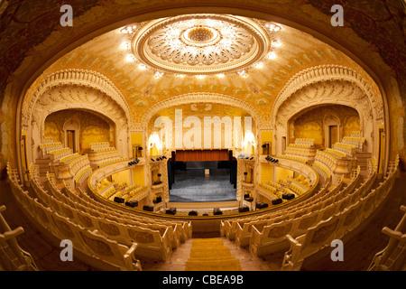 An inner view of the Vichy's opera house (Art Nouveau style). France Vue intérieure de l'opéra de Vichy (Palais des Congrès).