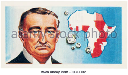 Cecil John Rhodes 1853 -1902  was an English-born South African businessman, mining magnate, and politician. EDITORIAL - Stock Photo
