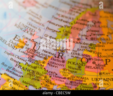 Europe on the globe - Stock Photo