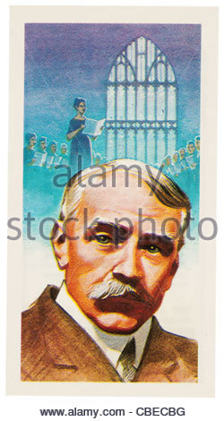 Sir Edward William Elgar 1857 - 1934 was an English composer. EDITORIAL ONLY - Stock Photo