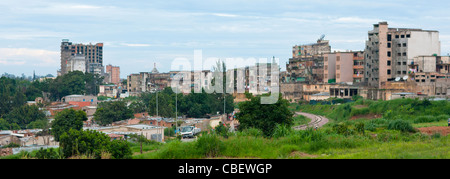 Panorama Of The City Of Huambo, Angola - Stock Photo