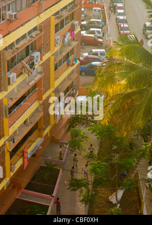Boys Playing At The Bottom Of A Building, Luanda, Angola - Stock Photo