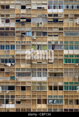 Old Flat Buildings In Luanda, Angola - Stock Photo