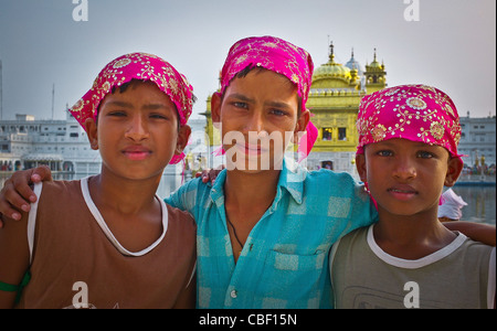 Turban people of India Visiting the Sikhs at the Golden Temple in Amritsar in northern India Glance of Indian , - Stock Photo