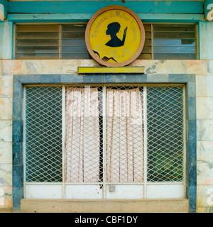 Building Of The Organization Of Angolan Women, Sumbe, Angola - Stock Photo
