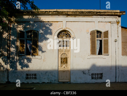 Old Portuguese Colonial House In Lobito, Angola - Stock Photo