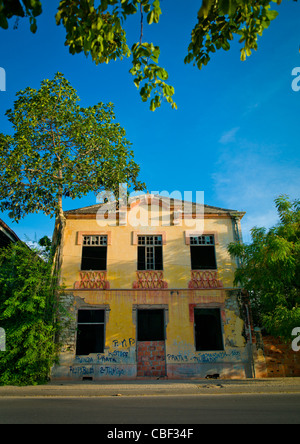 Old Portuguese Colonial House In Ruins In Lobito, Angola - Stock Photo