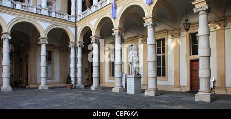 Italy, Piedmont, Turin, University, Palazzo del Rettorato, - Stock Photo