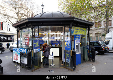 bureau de change tour bookings and theatre booking office in theatreland west end london england uk united kingdom - Stock Photo