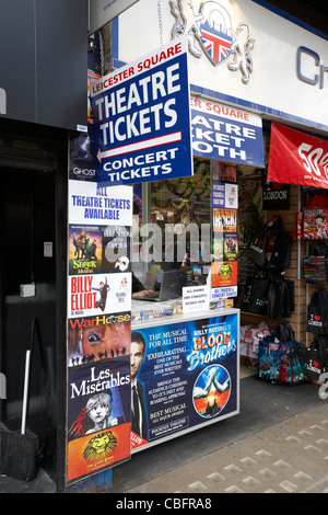 discount theatre ticket desk in leicester square theatreland west end london england uk united kingdom - Stock Photo