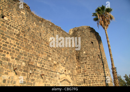 Israel, Sea of Galilee, Tiberias Fortress built in 1745 by the son of Daher el Omar - Stock Photo