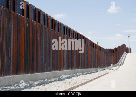 Barrier fence in Nogales, Arizona - Stock Photo
