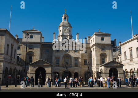Horse Guards Parade exterior Whitehall street Westminster central London England UK Europe - Stock Photo