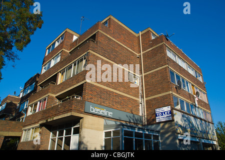 Council estate buildings Notting Dale district London England UK Europe - Stock Photo