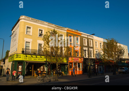 Chalk Farm Road street Camden Town north London England UK Europe - Stock Photo