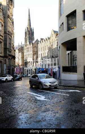 Victoria Street. Edinburgh, Scotland. - Stock Photo