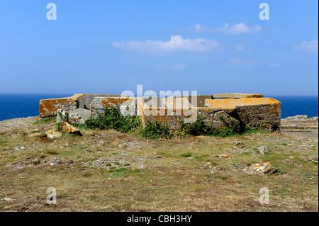 Bunker at Trou de l'Enfer,Ile de Groix,Island,Morbihan,Bretagne,Brittany,France