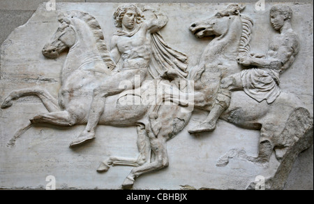 Detail from Parthenon Marble Sculpture in British Museum (Elgin Marbles) - Stock Photo