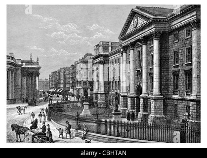 College of the Holy Undivided Trinity Queen Elizabeth Dublin university Bank of Ireland - Stock Photo