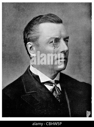 Colonial Secretary Joseph Chamberlain 1836 1914 British statesman Mayor Liberal Party campaigner educational reform - Stock Photo
