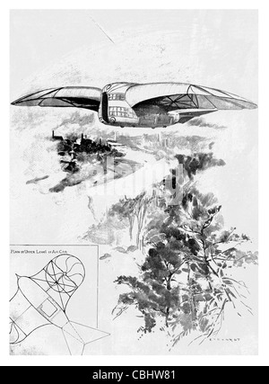 Flying Machine Designed by Mr G.L.O. Davidson aircraft air flight plane Aeroplane  airplane fixed wing invention - Stock Photo