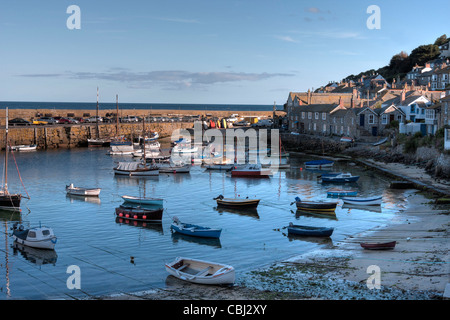 Fishing village in Cornwall, England - Stock Photo