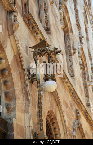 Ornate Lamp, Palacio Postal, Post Office Palace, Historic Center, Mexico City, Mexico - Stock Photo