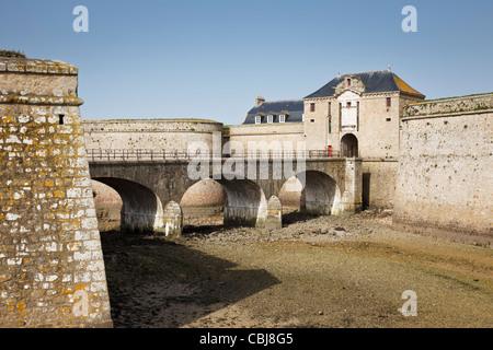 Citadel fortress at Port Louis, Morbihan, Brittany, France - Stock Photo