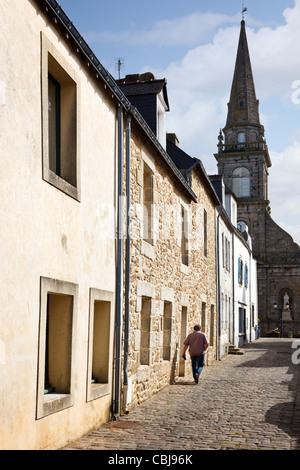 Street in Port Louis, Morbihan, Brittany, France - Stock Photo