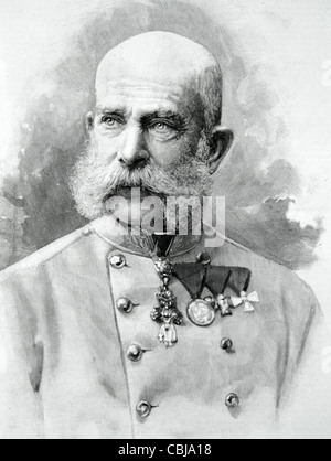 Franz Joseph I or Francis Joseph I, Emperor of Austria (1848-1916) and King of Hungary (1867-1916). Austro-Hungarian - Stock Photo