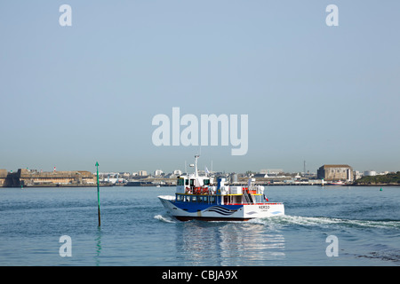 Ferry from Port Louis to Lorient, Morbihan, Brittany, France - Stock Photo