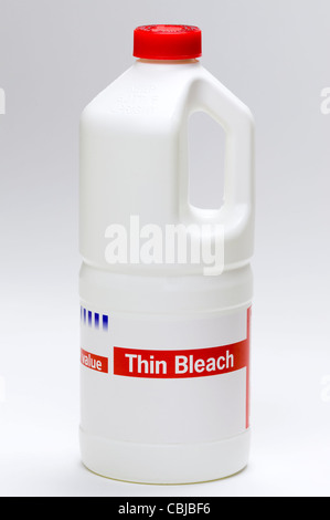 a plastic bottle of bleach