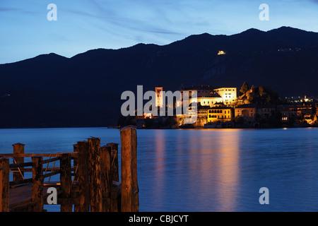 Isola San Giulio, Lago die Orta, Piemont, Italien - Stock Photo