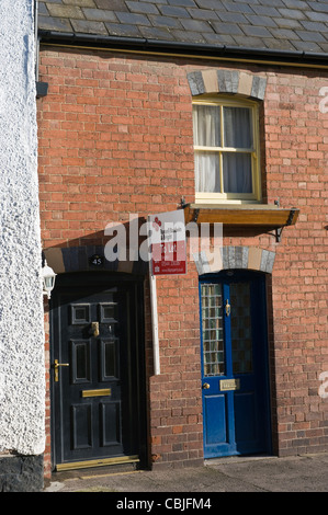 Small period terraced house to let in Kington Herefordshire England UK - Stock Photo