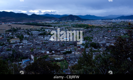 The Old Town of Lijiang overlooking - Stock Photo