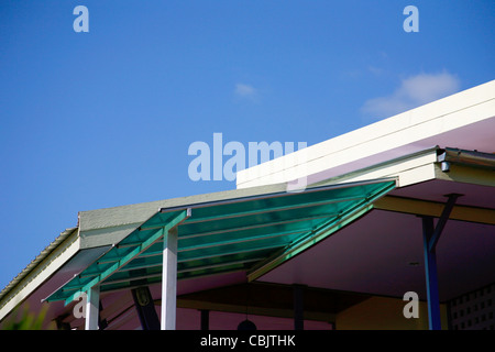 colorful modern roof on sky - Stock Photo