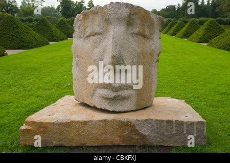 Statue in Botanical Gardens in Uppsala city Svealand province Sweden Europe - Stock Photo