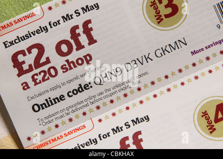 Supermarket money off coupons