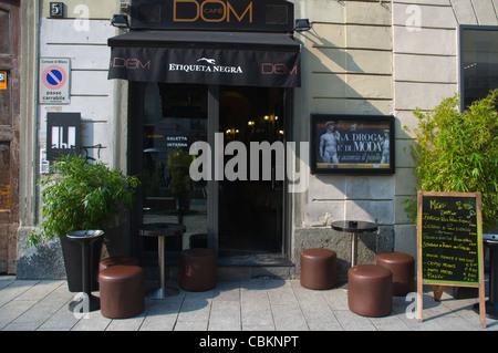 Cafe Dom along Corso Como street Porta Garibaldi area Milan Lombardy region Italy Europe - Stock Photo