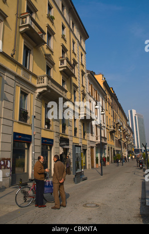 Corso Como street Porta Garibaldi area Milan Lombardy region Italy Europe - Stock Photo
