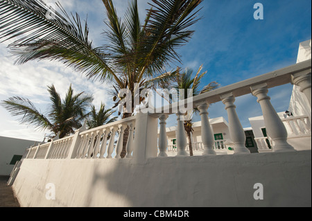 Street views ar El Golfo, Lanzarote, Canary Islands, Spain. - Stock Photo