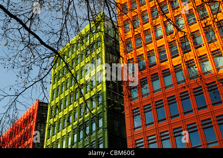 Abstract Building Detail, Central St Giles, London, England, UK - Stock Photo