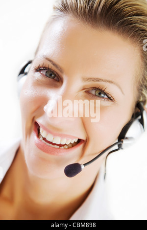 happy customer service - Stock Photo