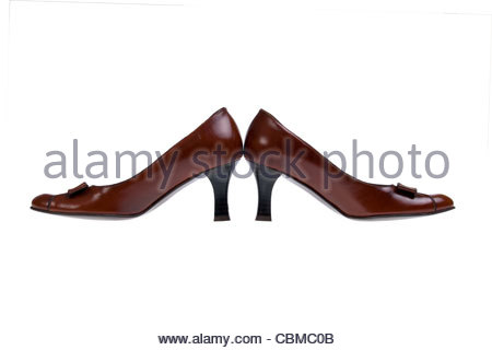 fashion woman summer shoes isolated on white - Stock Photo