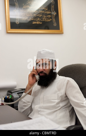 Mufti Muhammad Arshad, Chief Imam of Hong Kong, in his office - Stock Photo